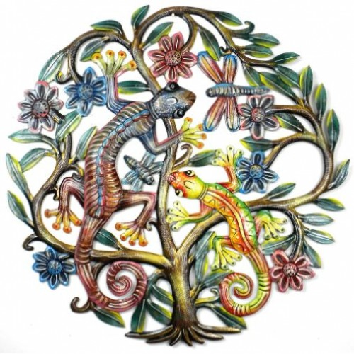 24 inch Painted Gecko Tree of Life