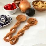 8-Inch Hand-Carved Kenyan Salad Serving Set