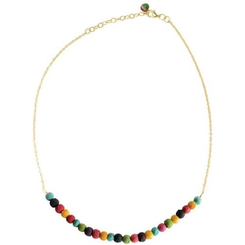 Delicate Kantha Sari Bead Necklace