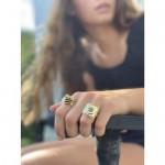 Domed Adjustable Brass Ring