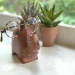Elephant Eyeglass Acacia Wood Stand