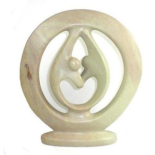 Natural Soapstone 10-inch Lover's Embrace Sculpture