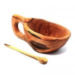 Reclaimed Olive Wood Salt Pot - Kahero Farm
