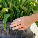 Ring, Oval Mother of Pearl